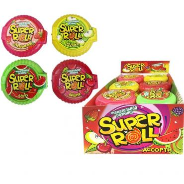 Жевательная резинка Super roll12 гр., пластиковая упаковка