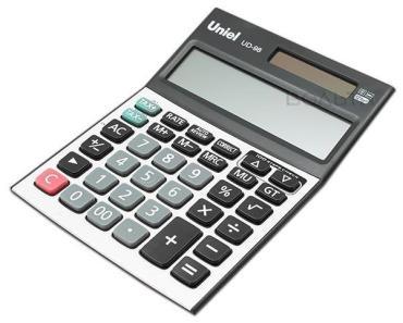Калькулятор настольный двойное питание UD-98 Uniel, 230 гр., картонная коробка