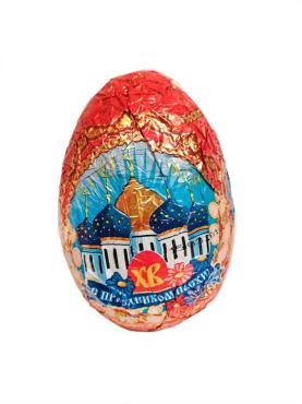 Шоколадное яйцо пасхальное с сюрпризом , 90 гр., обертка фольга/бумага