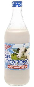 Молоко Можайское 2,5% 0,45л