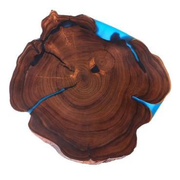 Спил-слэб Доброе дерево для подачи и нарезки больших блюд, 60 х 50 см., массив оливы.