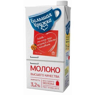 Молоко Большая кружка Ультрапастеризованное 3,2%