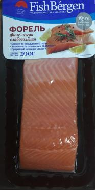 Форель слабосоленая филе-кусок в/у 200г