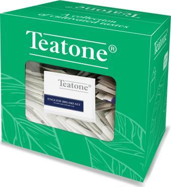 Чай черный 300 пакетиков Teatone Английский завтрак, 540 гр., картон