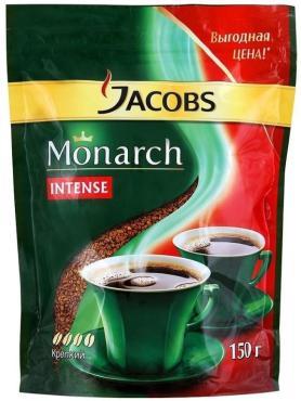 Кофе Jacobs Monarch intense Натуральный растворимый сублимированный крепкий