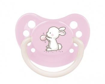 Пустышка Canpol babies Little Cutie силиконовая анатомическая, 0-6 мес., розовый