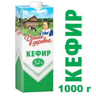 Кефир Домик в деревне 3.2% 1х12х1000г