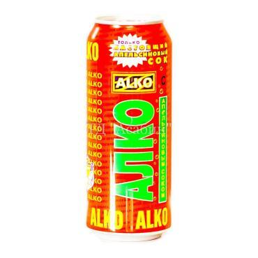 Пивной напиток со вкусом Апельсина 6,9%, Алко, 500 мл., Жестяная банка