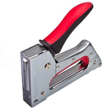 Степлер мебельный ЕРМАК  рессорный металл, двухком. рукоятка, тип скобы 53 (6-10мм)х11,3мм