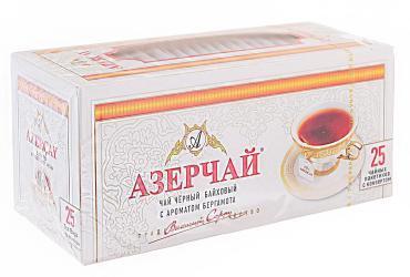 Чай Азерчай черный байховый c бергамотом в пакетиках