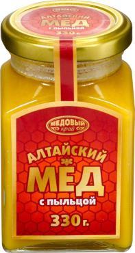 Мед Медовый край алтайский с пыльцой
