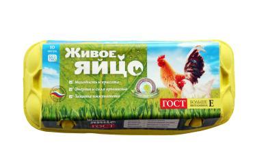 Яйцо 3 категории, 10 шт., Ярославский бройлер, коробка