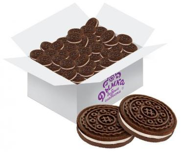 Печенье со сливочной начинкой Дымка Приключеньки 2,8 кг., картонная коробка