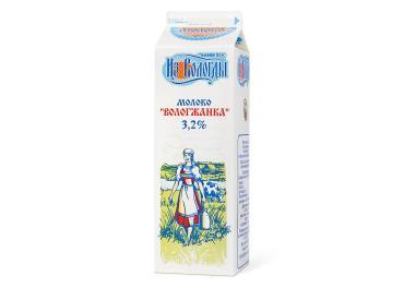 Молоко Вологжанка 3,2%,  из Вологды, 1 л., тетра-пак