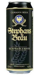 Пиво Schwarzbier Stephans Brau 4,8%