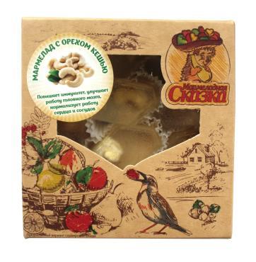 Мармелад Мармеладная сказка Желейный формовой с орехом кешью