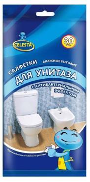 Салфетки Celesta Антибактериальные влажные, 30 шт.