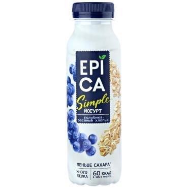 Йогурт Simple Голубика и овсяные хлопья, Epica, 290 гр, ПЭТ