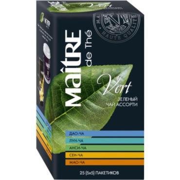 Чай зеленый Maitre Ассорти Весь Китай 25 пакетов 50 гр