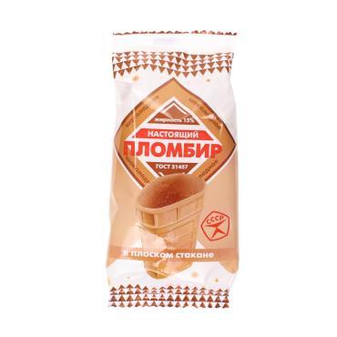 Мороженое Лакомство Колибри Настоящий пломбир шоколадный в вафельном стакане 15% 90 гр.