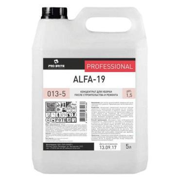 Средство для уборки после строительства Pro-Brite ALFA-19 кислотное концентрат