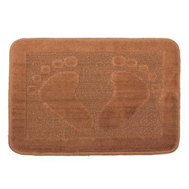 Коврик для ванны Доляна Ноги 40х60 см. коричневый