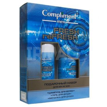 Набор Compliment Набор Compliment №1790 Men Fresh reFresh шампунь, гель для умывания, мочалка)