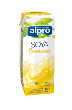Молоко соево-банановок с кальцием, Alpro, 250 мл., тетра-пак