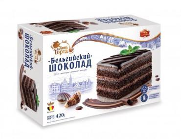 Торт Бельгийский шоколад 420гр  1/6
