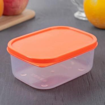 Контейнер пищевой Доляна 500 мл. квадратный оранжевый