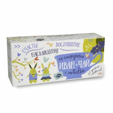 Чай пакетированный листовой со смородиной 20 пак. Образ Жизни Иван-чай, 30 гр., картонная коробка