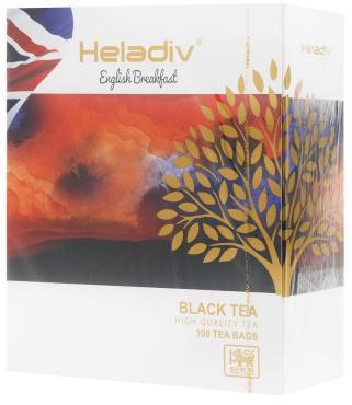 Чай Heladiv English Breakfast черный в пакетиках, 100 шт