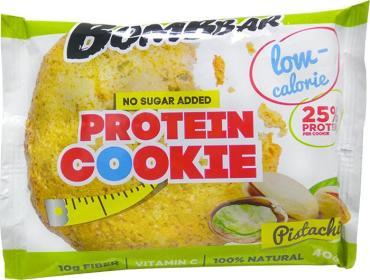 Печенье протеиновое низкокалорийное фисташка Bombbar, 40 гр., флоу-пак