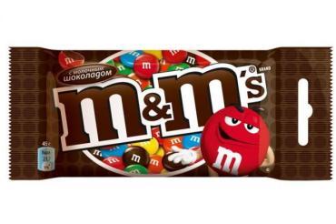 Драже с шоколадом, M&M, 45 гр., флоу-пак