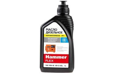 Масло дизельное полусинтетическое 1л, API CG-4/SJ, SAE 10W-40 Hammer Flex 501-017, 900 гр., канистра