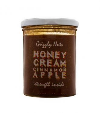 Крем мед Grizzly Nuts с яблоком и корицей , 470 гр, стекло