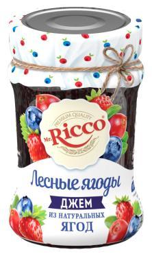 Джем нестерилизованный из натуральных ягод Mr. Ricco Лесные ягоды, 310 гр., стекло