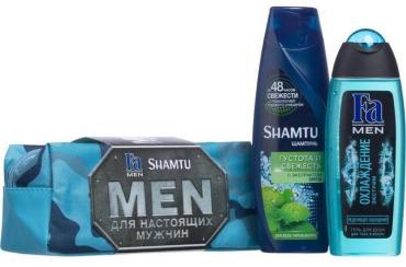 Шампунь Schwarzkopf Shamtu Men Густота и Свежесть, Гель для тела и волос Fa Men Охлаждение Экстрим, 775 гр.