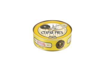 Печень трески натуральная Старая Рига, 230 гр., жестяная банка