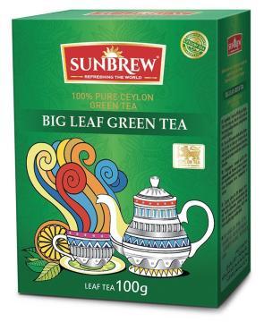 Чай BIG LEAF GREEN TEA, Sunbrew, 100 гр., картон