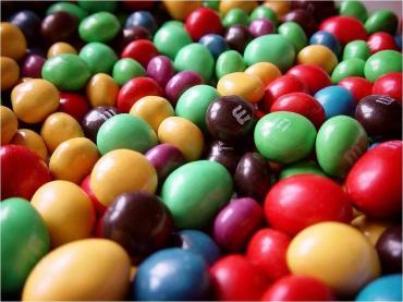 Конфеты арахис красная глазурь, M&M's, 5,04 кг., коробка