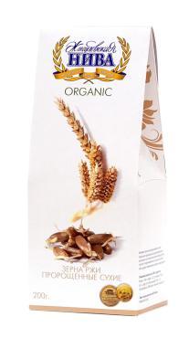 Пророщенные зерна ржи Жигулевская Нива Organic сухие