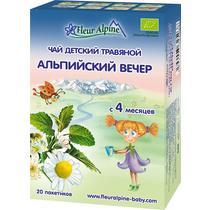Чай Fleur Alpine Organic детский травяной альпийский вечер с 4 месяцев
