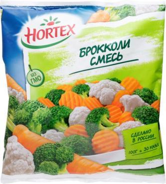Смесь овощная Hortex брокколи, 400 гр., флоу-пак