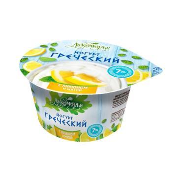 Йогурт Лукоморье Греческий С лимоном и мятой 7%