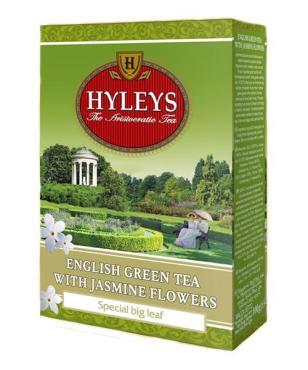 Чай зелёный листовой Hyleys Английский с жасмином 100 гр.