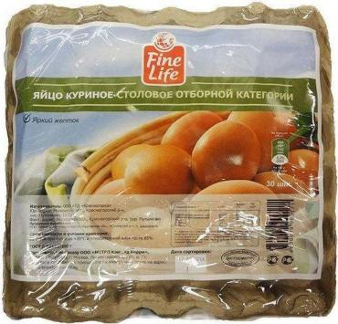 Яйцо куриное Fine Life отборное С0 30 шт.