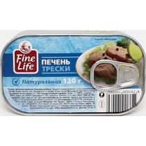 Печень трески Fine life натуральная
