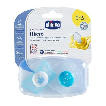 Пустышка силиконовая 2 шт., 0-2 мес., для Принца, Chicco MICRO, блистер
