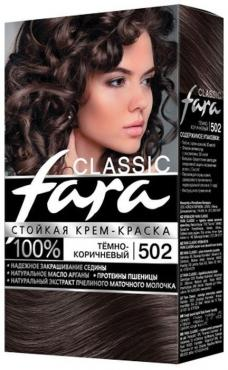 Стойкая крем-краска для волос Fara Classic 502 темно-коричневый